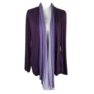 Antthony Cardigan Sweater Purple Color Block M